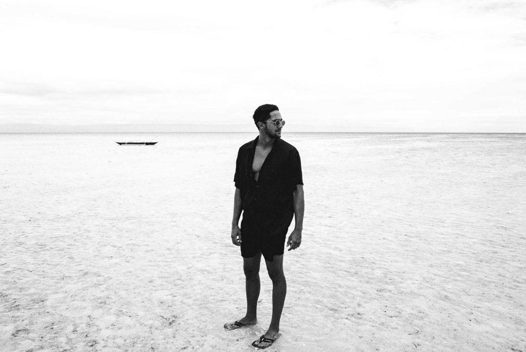Strand Shooting Outdoor mit männlichem Model
